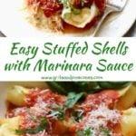 Easy Stuffed Shells with Marinara Sauce Pinterest pin