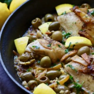 Skillet Chicken with Lemon and Olives