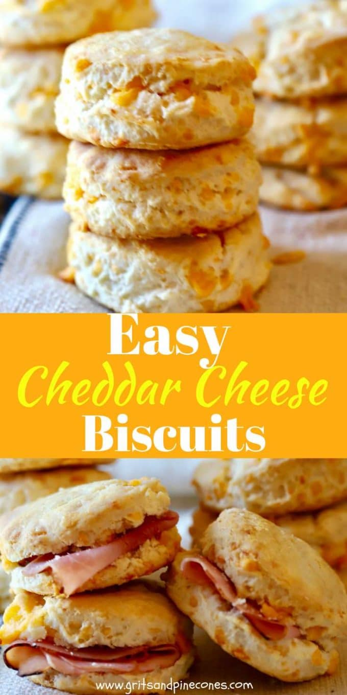 Just in time for your Easter dinner or brunch, and with just three ingredients, this recipe for Easy Southern Cheddar Cheese Biscuits cooks up light, flaky, tender, Southern-style biscuits!  Eaten hot right out of the oven with a pat of butter, these delicious cheddar cheese biscuits will fairly melt in your mouth.