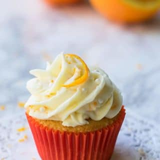 Orange Cupcakes with Cream Cheese Orange Frosting