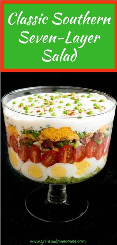 Classic Southern Seven Layer Salad Pinterest Pin