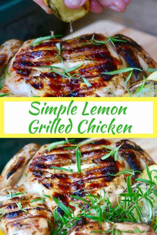 Simple Lemon Grilled Chicken Pinterest Pin A