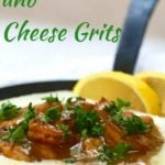Southern BBQ Shrimp and Cheese Grits Pinterest pin