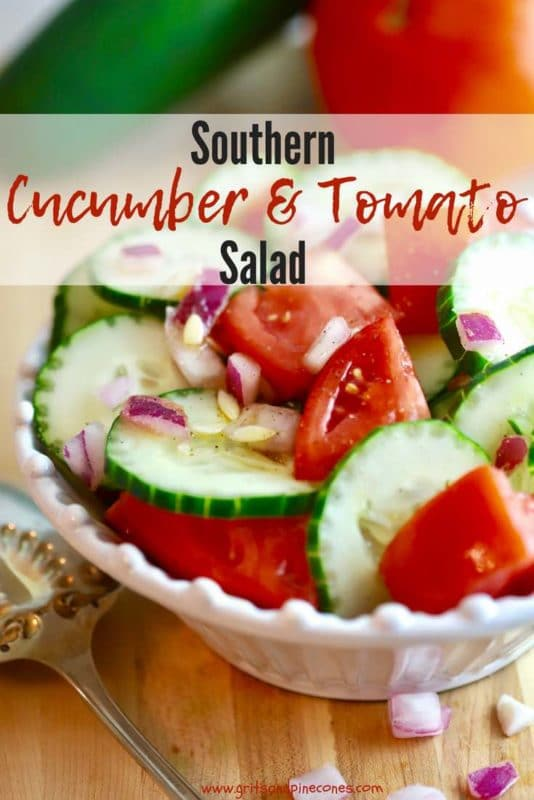 Southern Cucumber and Tomato Salad Pinterest pin