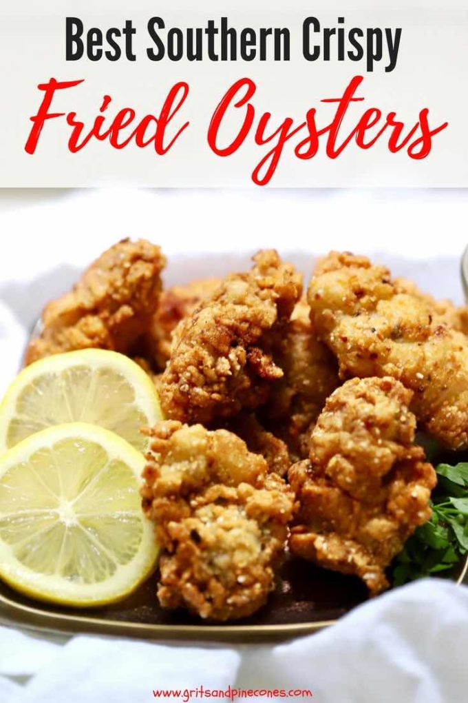 Quick and easy Best Southern Crispy Fried Oysters, with their delectable crunchy cornmeal coating are tasty briny bivalves, which taste just like the sea. In this easy recipe, raw oysters are soaked in buttermilk and dredged in a cornmeal mixture, then fried golden brown in peanut oil. #oysters, #seafood, #dinner, #dinnerrecipe, #easyrecipe, #seafood, #appetizers