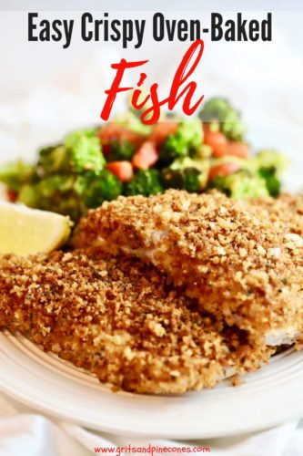 Easy Crispy Oven Baked Grouper Pinterest pin