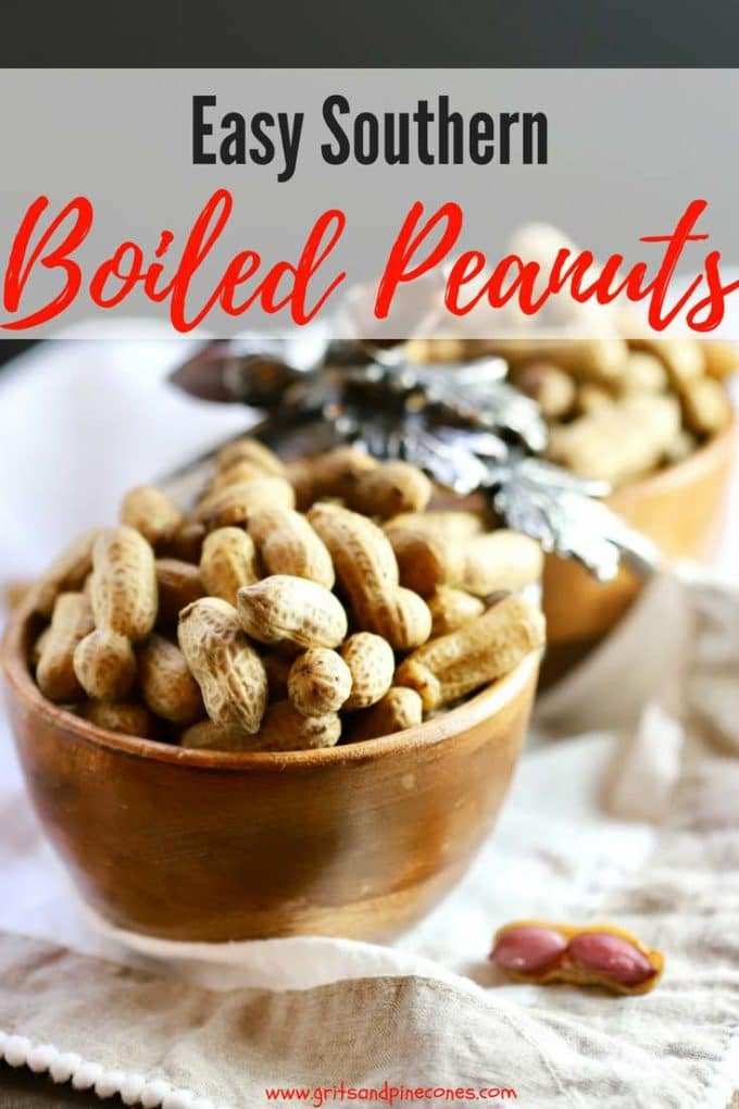 Easy Southern Boiled Peanuts are just what the name implies, green peanuts which have been boiled on the stovetop in water and salt. That's it! But, trust me, after one bite of these delicious, juicy, briny, soft legumes you will be hooked and like the old potato chip saying,