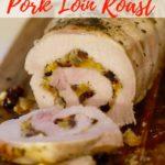 Apricot Cranberry Stuffed Pork Loin Roast Pinterest pin