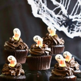 Chocolate Halloween Cupcakes and Icing