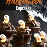 Easy Halloween Chocolate Cupcakes Pinterest pin
