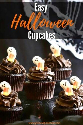 Easy Halloween Chocolate Cupcakes Pinterest pin