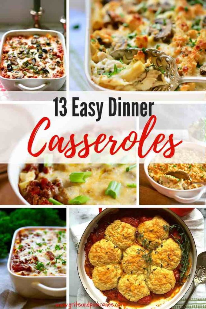 This post contains thirteen of my best dinner casserole recipes, including easy chicken casseroles, beef casserole recipes, casseroles that can feed a crowd, vegetarian casseroles, and casseroles that are perfect for sharing with family and friends.