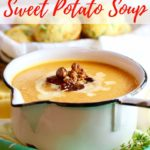 Easy Creamy Southern Sweet Potato Soup Pinterest pin.