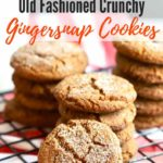 Old Fashioned Crunchy Gingersnap Cookies Pinterest pin