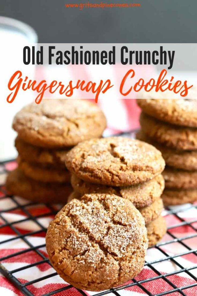 This recipe for Old-Fashioned Crunchy Gingersnap Cookies from scratch is easy to make. The cookies are the best, with a strong ginger flavor and are full of dark, sweet, pungent molasses, and warm aromatic spices including cloves and cinnamon.