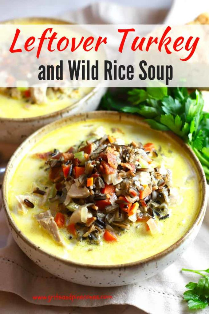 Turkey leftovers on Thanksgiving are one of those undeniable parts of life that you can always count on, and this Creamy Leftover Turkey and Wild Rice Soup is a perfect recipe to put all of that leftover turkey to good use! And, it's the most delicious, hearty, thick-and-creamy, comforting soup you could ask for.