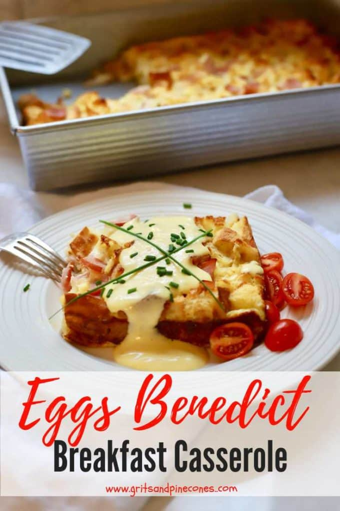 Easy Eggs Benedict Breakfast Casserole with Blender Hollandaise Sauce is the answer to your make-ahead breakfast dreams! A family favorite, this recipe for a creamy and decadent make-ahead breakfast casserole is perfect for Christmas morning, only takes minutes to prepare and boasts a short list of ingredients.