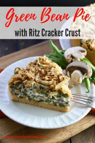 Green Bean Pie with Ritz Cracker Crust