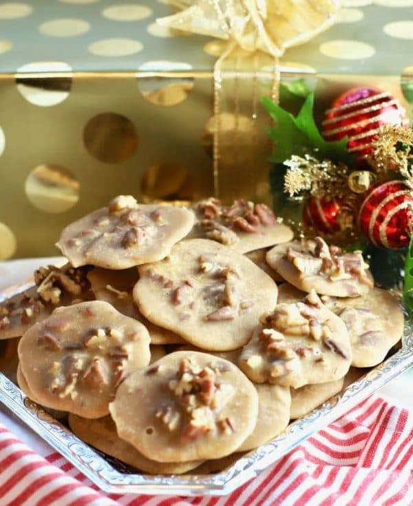 A plateful of Old Fashioned Pecan Pralines