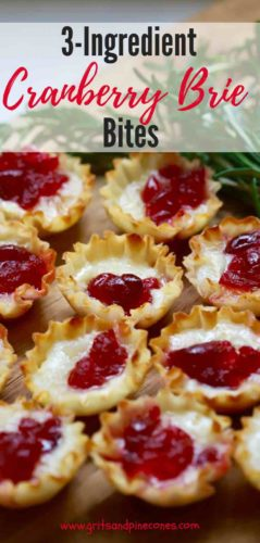 3-ingredient Easy Cranberry Brie Bites