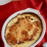 Easy Parmesan Potatoes Au Gratin side dish ready to serve.