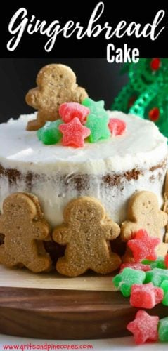 Gingerbread Cake with Cream Cheese Icing Pinterest pin