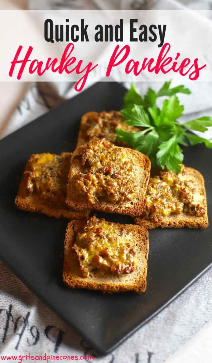 If you have never had a Hanky Panky, you are in for a treat! There is nothing improperabout this Hanky Panky Recipe for old-fashioned, delicious, cocktail rye bread appetizers, sometimes called a