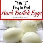 Easy to Peel Hard Boiled Eggs Pinterest Pin
