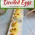 Classic Southern Deviled Eggs Pinterest pin.