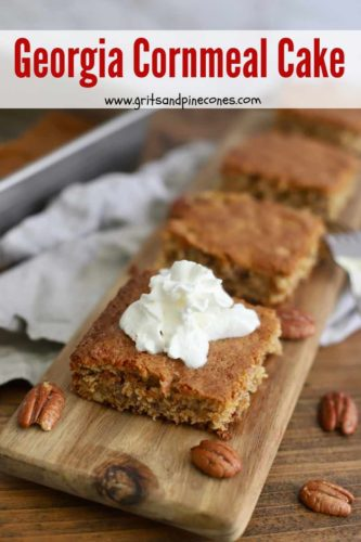 Georgia Cornmeal Cake Pinterest Pin