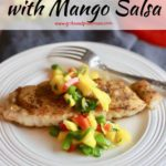 Pan Seared Red Snapper with Mango Salsa Pinterest pin.