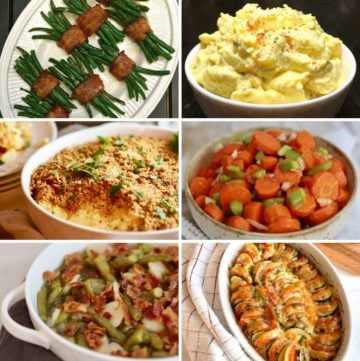 Easter Dinner Side Dish Menu Ideas collage