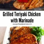 Grilledd Teriyaki Chicken Pinterest pin