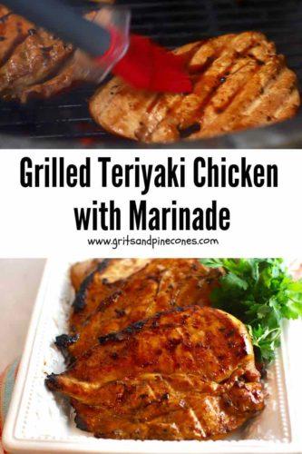 Grilledd Teriyaki Chicken Pinterest pin