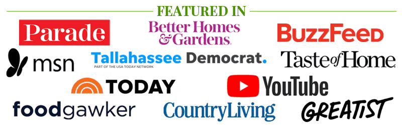 Featured in Parade, The Today Show, Better Homes & Gardens, Greatist, and more.