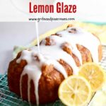 Lemon bread with lemon glaze Pinterest pin.