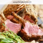 Roasted Rack of Lamb Pinterest pin.