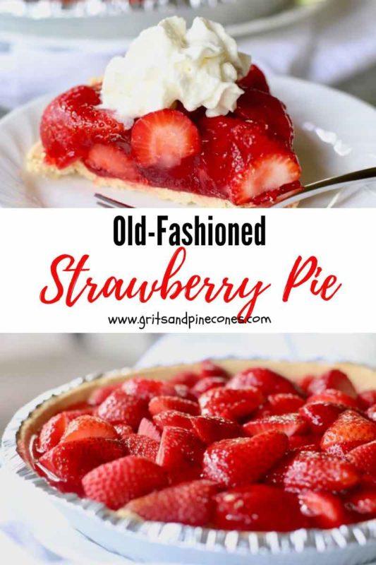 Strawberry Pie Pinterest Pin