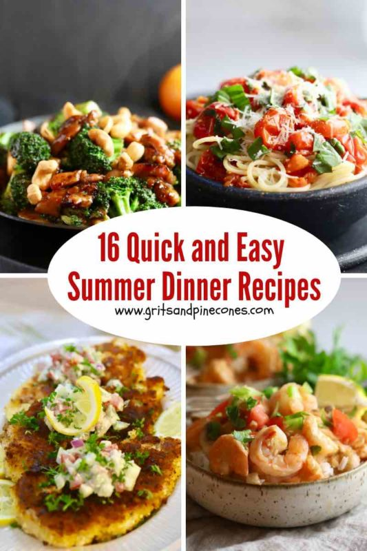 Shrimp and Broccoli Stir Fry, Spaghetti and Fresh Tomato Sauce, Parmesan Chicken and Shrimp Creole images.