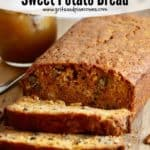 Pinterest pin for Southern Sweet Potato Bread.