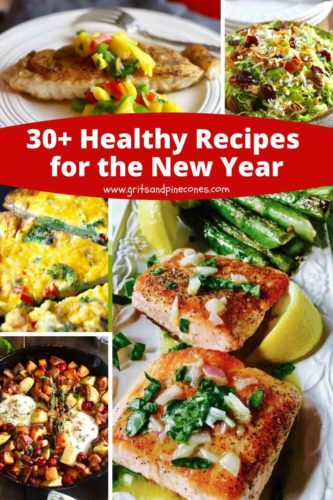 Pinterest pin for 30 healthy recipes for 2020.