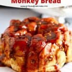 Pinterest pin for butterscotch pecan monkey bread.