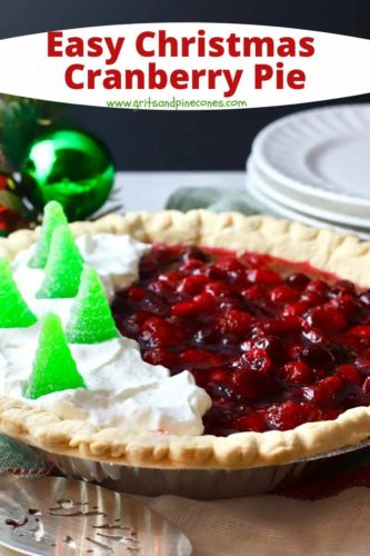 Pinterest pin for cranberry pie.