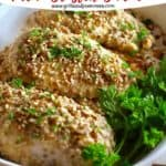 Pinterest pin for Pecan Crusted Chicken.