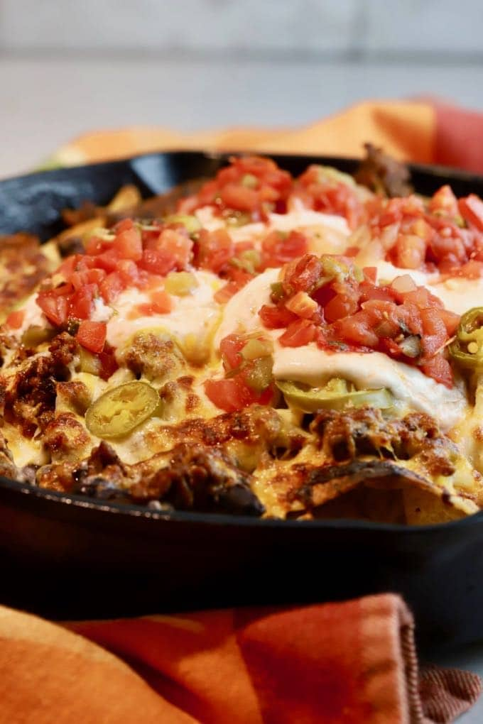 Cast-Iron Skillet Machos