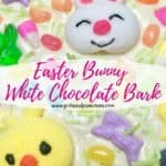 Pinterest pin Easter Bunny White Chocolate Bark