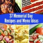 Pinterest pin for Memorial Day Recipes and Menu Ideas
