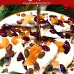 Pinterest pin for white chocolate bark.
