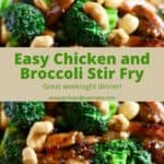 Pinterest pin for Chinese Broccoli and Chicken.