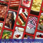 Pinterest pin showing a collage of Fourth of July recipe photos.